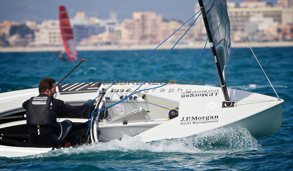 Ben Ainslie team training in Mallorca 3rd March 2012 ©jrenedo