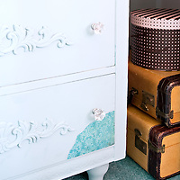 Guest bedroom makeover, chest of drawers detail