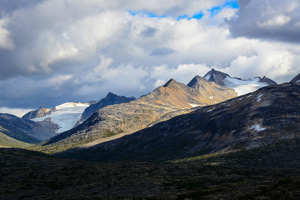 Clouds and mountains, Skagway Summit, Yukon
