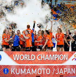 15-12-2019 JAP: Netherlands World Champion Ceremony, Kumamoto<br /> The Netherlands beat Spain in the final and take historic gold in Park Dome at 24th IHF Women's Handball World Championship / /hn