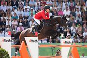 Beezie Madden - Casall la Silla<br /> Alltech FEI World Equestrian Games™ 2014 - Normandy, France.<br /> © DigiShots - Jon Stroud