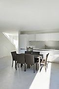Architecture, interior of a modern house, dining table