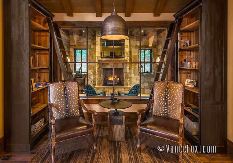 Martis Camp Home, Truckee, Ca, Sandbox Studio, Structerra Construction.<br /> Vance Fox Photography