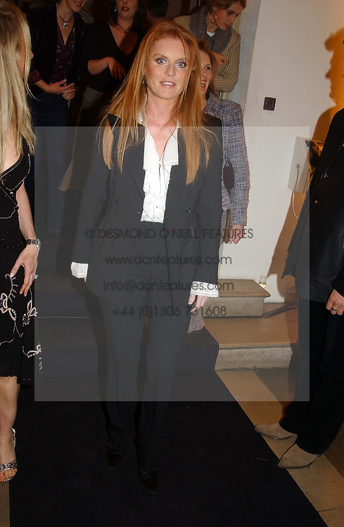 SARAH, DUCHESS OF YORK<br /><br />at a party to celebrate the 10th anniversary of Jo Malone the perfumer held at The Banquetting House, Whitehall, London on 21st October 2004.<br /><br /><br /><br />NON EXCLUSIVE - WORLD RIGHTS