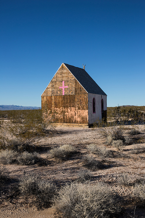 An old church located along the eastern portion of the Mojave Road, in the Mojave Desert.