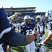 Yale player Charles Cook during the seniors presentation of players making their final appearance before the Yale Vs Princeton, Ivy League College Football match at Yale Bowl, New Haven, Connecticut, USA. 15th November 2014. Photo Tim Clayton