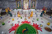 The Shreemaya Krishnadham Temple is decorated for Diwali in Milpitas, California, on November 2, 2013. (Stan Olszewski/SOSKIphoto)