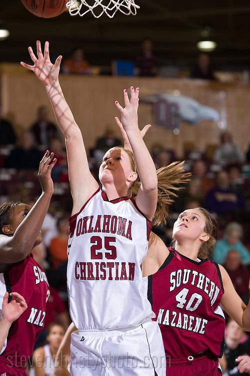 OC Women's Basketball vs Southern Nazarene.January 25, 2008.66-52 loss