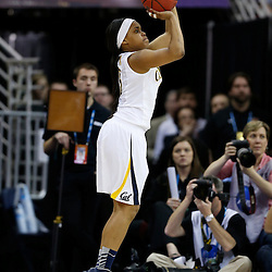 April 7, 2013; New Orleans, LA, USA; California Golden Bears guard Brittany Boyd (15) shoots against the Louisville Cardinals during the second half in the semifinals during the 2013 NCAA womens Final Four at the New Orleans Arena. Mandatory Credit: Derick E. Hingle-USA TODAY Sports