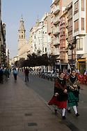 LogronÃÉo (Spain) 21/09/2007 - 51¬? Fiesta de la Vendimia Riojana 2007 - Corteo para la Misa Solemne de San Mateo con Vendimiadores San Mateo 2007
