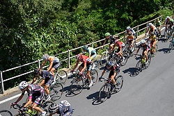 Alena Amialiusik well positioned in the foothills of the first climb of the day at Giro Rosa 2016 - Stage 6. A 118.6 km road race from Andora to Alassio, Italy on July 7th 2016.