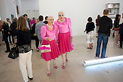 ARTISTS ADELLE & EVA;, private View, Rubell Family Collection |  ÔHow Soon is NowÔ and ÔContemporary Art 1983 Ð 1991 from the Collection of Jason RubellÔ brunch Hosted by the Rubell Family.<br /> 95 NW 29 Street, Miami. 2010. 2 December 2010. -DO NOT ARCHIVE-© Copyright Photograph by Dafydd Jones. 248 Clapham Rd. London SW9 0PZ. Tel 0207 820 0771. www.dafjones.com.<br /> ARTISTS ADELLE & EVA;, private View, Rubell Family Collection |  'How Soon is Now' and 'Contemporary Art 1983 – 1991 from the Collection of Jason Rubell' brunch Hosted by the Rubell Family.<br /> 95 NW 29 Street, Miami. 2010. 2 December 2010. -DO NOT ARCHIVE-© Copyright Photograph by Dafydd Jones. 248 Clapham Rd. London SW9 0PZ. Tel 0207 820 0771. www.dafjones.com.