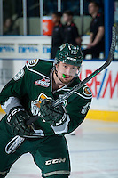 KELOWNA, CANADA - DECEMBER 30: Remi Laurencelle #13 of Everett Silvertips warms up against the Kelowna Rockets on December 30, 2015 at Prospera Place in Kelowna, British Columbia, Canada.  (Photo by Marissa Baecker/Shoot the Breeze)  *** Local Caption *** Remi Laurencelle;