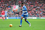 Queens Park Rangers midfielder Leroy Fer during the Sky Bet Championship match between Bristol City and Queens Park Rangers at Ashton Gate, Bristol, England on 19 December 2015. Photo by Jemma Phillips.