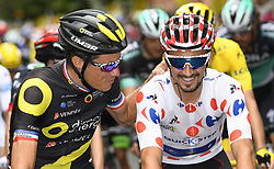 July 29, 2018 - Paris Champs-Elysees, France - PARIS CHAMPS-ELYSEES, FRANCE - JULY 29 : CHAVANEL Sylvain (FRA) of Direct Energie, ALAPHILIPPE Julian (FRA) of Quick - Step Floors during stage 21 of the 105th edition of the 2018 Tour de France cycling race, a stage of 116 kms between Houilles and Paris Champs-Elysees on July 29, 2018 in Paris Champs-Elysees, France, 29/07/18  (Credit Image: © Panoramic via ZUMA Press)