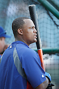 ANAHEIM, CA - AUGUST 18:  Adrian Beltre #29 of the Texas Rangers looks on during batting practice the game against the Los Angeles Angels of Anaheim on August 18, 2011 at Angel Stadium in Anaheim, California. The Angels won the game 2-1. (Photo by Paul Spinelli/MLB Photos via Getty Images) *** Local Caption *** Adrian Beltre