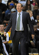 Feb 19, 2011; Long Beach, CA, USA; Long Beach State 49ers coach Dan Monson reacts during the game against the Montana Grizzlies at the Walter Pyramid. Long Beach State defeated Montana 74-56.