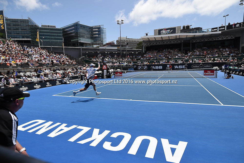 General view on quarter finals day at the ASB Classic Tennis Men's tournament. ASB Tennis Centre, Stanley st, Auckland, New Zealand. Thursday 14 January 2016. Copyright Photo: Andrew Cornaga / www.photosport.nz