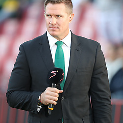 Jean de Villiers rugby commentator during the 2018 Castle Lager Incoming Series 1st Test match between South Africa and England at Emirates Airline Park,<br /> Johannesburg.South Africa. 09,06,2018 Photo by (Steve Haag Sports)