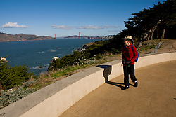 California: San Francisco. Land's End view of the Golden Gate. Photo copyright Lee Foster. Photo #: 25-casanf75715