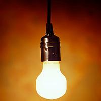 light bulb glowing in a warm fuzzy background