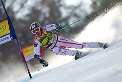 Hannes Reichelt of Austria competes during 1st Run of Men's Giant Slalom of FIS Ski World Cup Alpine Kranjska Gora, on March 5, 2011 in Vitranc/Podkoren, Kranjska Gora, Slovenia.  (Photo By Vid Ponikvar / Sportida.com)