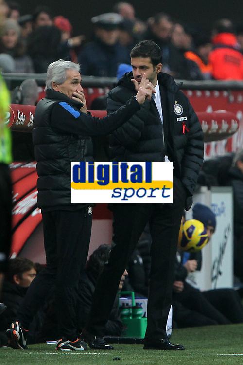 """Andrea Stramaccioni Inter.Milano 02/12/2012 Stadio """"San Siro"""".Football Calcio Serie A 2012/13.Inter v Palermo.Foto Insidefoto Paolo Nucci."""