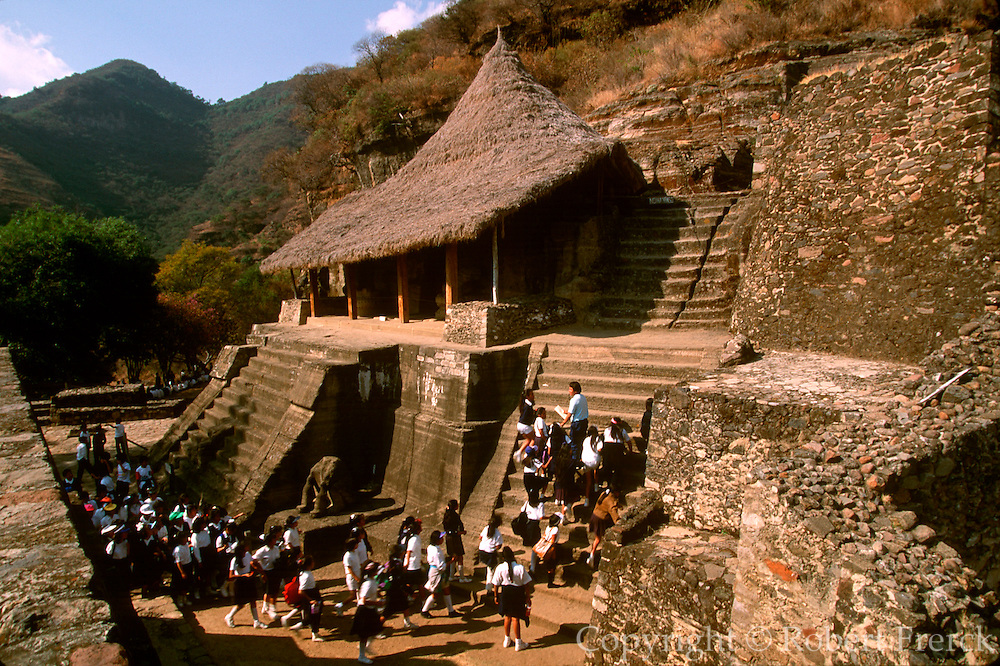 MEXICO, PREHISPANIC, AZTEC Malinalco, eagle and jaguar temple