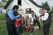 Bugac Puszta. Hungarian lunch for Club 50 passengers with kettle goulasch, palatszinta and gipsy music on a traditional farming estate...M.S. Johann Strauss, a brand new four star+ river cruiser operated by Austrian River Cruises, and chartered by Club 50 (a travel agency especially for seniors aged 50 and up) undertook an epic 3-week journey (May 21 to June 10, 2004) all the way from Amsterdam to the Black Sea?along Rhine, Main and Danube?, presumably the first passenger vessel ever to have done so. This is one of the images recorded during this historic voyage.