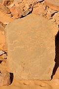 Gravestone in the town of Chinguetti, world heritage sight,Western Africa, Mauretania, Africa