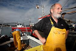 UK ENGLAND DEVON TEIGNMOUTH 10SEP16 - Fishermen Trevor Hall (50) of Teignmouth on his boat at Teignmouth harbour, Devon, England.<br /> <br /> jre/Photo by Jiri Rezac<br /> <br /> &copy; Jiri Rezac 2016