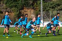 BENAHAVIS - 04-01-2017, Trainingskamp, AZ, AZ speler Pantelis Hatzidiakos, AZ speler Jop van der Linden