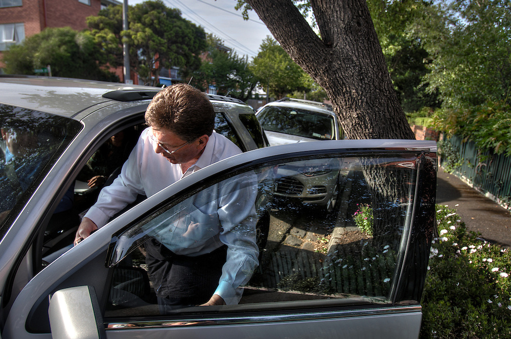 Victorian Premier Ted Baillieu after one year in office. being picked up at home in the morning by driver John. Pic By Craig Sillitoe CSZ/The Sunday Age.21/11/2011 melbourne photographers, commercial photographers, industrial photographers, corporate photographer, architectural photographers, This photograph can be used for non commercial uses with attribution. Credit: Craig Sillitoe Photography / http://www.csillitoe.com<br />