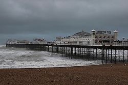 Brighton, UK. 20/11/2016, Brighton Palace Pier stands undamaged after being hit by Storm Angus who came ashore with powerful waves and winds up to 80mph. Photo Credit: Hugo Michiels