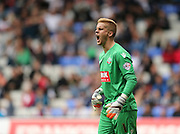 Bolton Wanderers goalkeeper Ben Amos bellows instructions during the Sky Bet Championship match between Bolton Wanderers and Brighton and Hove Albion at the Macron Stadium, Bolton, England on 26 September 2015.