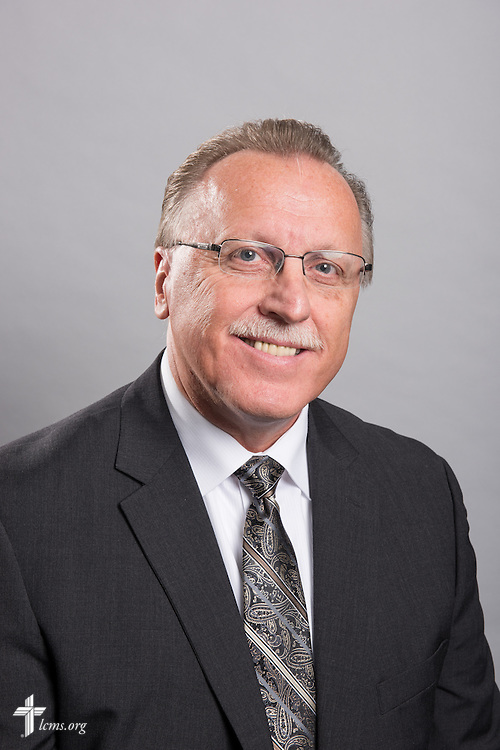 Headshot photograph of Mike Fischer in the International Center studio of The Lutheran Church–Missouri Synod on Wednesday, Dec. 10, 2014, in Kirkwood, Mo. LCMS Communications/Erik M. Lunsford