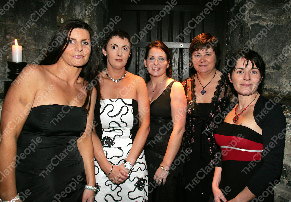 020306<br /> L-R Carolyn McGowan,Bunratty Co Clare, Paula McInerney, Bunratty, Deirdre McInerney, Bunratty, Mary Meade, Bunratty and Dawn Burke, Limerick pictured at the Passion for Fashion Fashion Show at Knappogue Castle Co Clare on Thursday Night.Pic Arthur Ellis/Press 22.<br /> Themed 'Passion for Fashion' the show is being organised as a fundraising event for Clonmoney National School, Newmarket-on-Fergus, Co. Clare. The event is being organised in conjunction with Shannon Heritage, the Shannon Development tourism subsidiary who manage Knappogue castle and a range of visitor attractions and evening entertainment in the Shannon Region