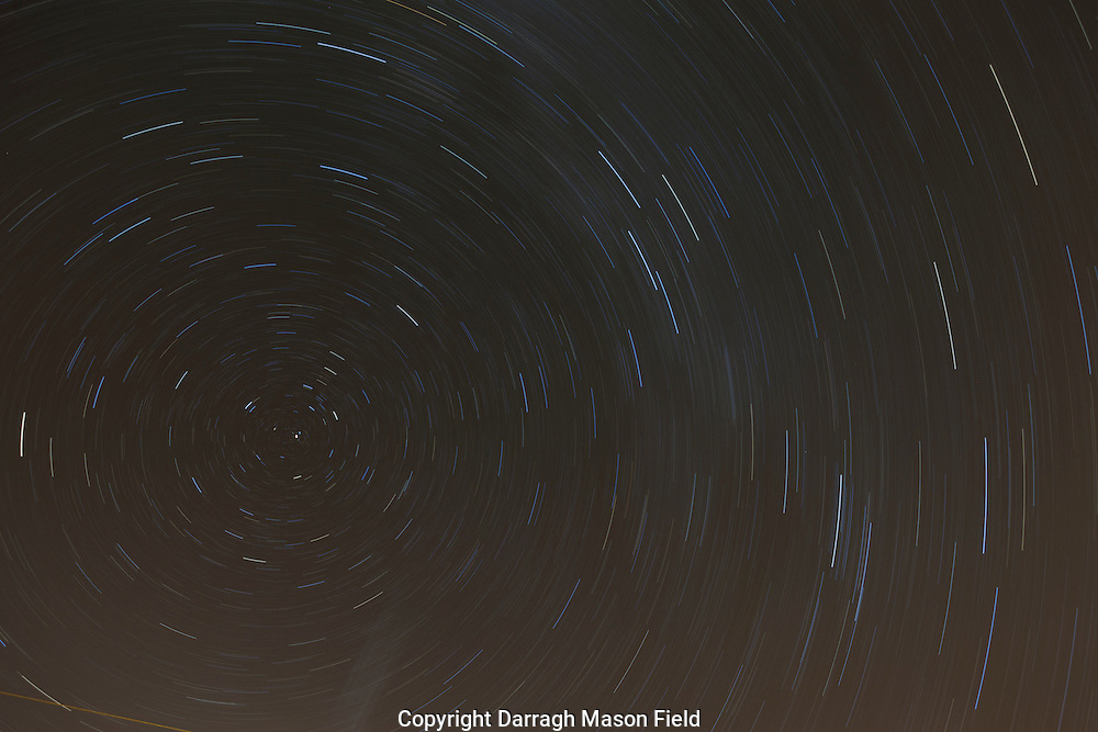Night sky star trails