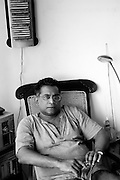 """Pradeep Jeganathan at his home in Havelock Town. Colombo.<br /> """"Pradeep Jeganathan was born and raised in Colombo, Sri Lanka, where he lives and works, engaged in a variety of intellectual, aesthetic and political projects."""" - from pjeganthan.org"""