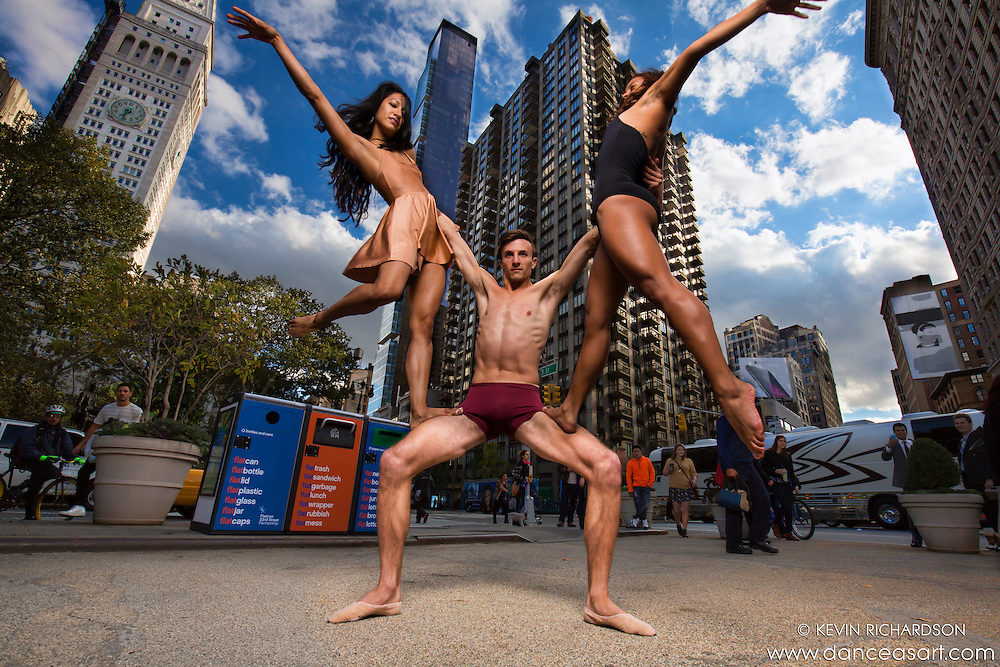 Dancers in Madison Sqaure Park New York City Dance As Art featuring Sylvana Tapia, Andy Jacobs and Alana Allende.