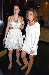 Left to right, the HON.FLORA ASTOR and FRANCESCA VERSACE at Tatler Magazine's Summer Party held at the Baglioni Hotel, 60 Hyde Park Gate, London SW7 on 1st July 2004.