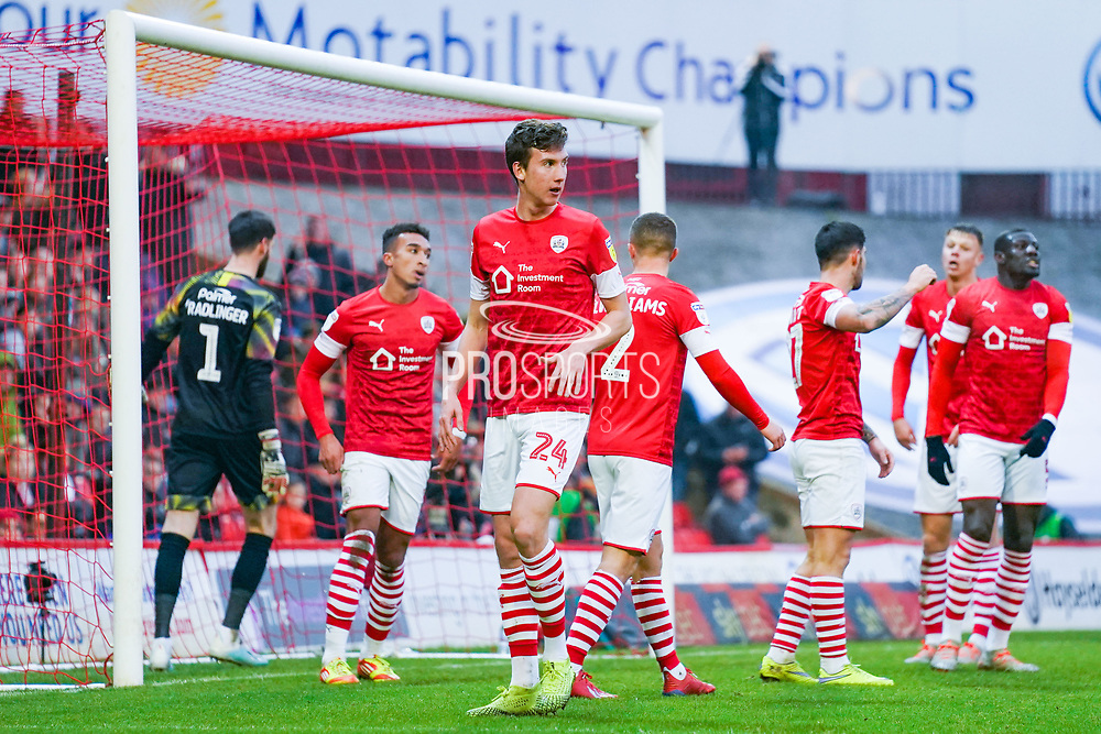 Barnsley defender Aapo Halme (24) in action during the EFL Sky Bet Championship match between Barnsley and Hull City at Oakwell, Barnsley, England on 30 November 2019.