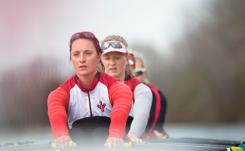 Nicole Hare National rowing team member trains in the quad at Lake Fanshawe in London, Ontario Canada on April 25th, 2016.