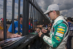 June 1, 2018 - Long Pond, Pennsylvania, United States of America - William Byron (24) signs autographs for fans before qualifying for the Pocono 400 at Pocono Raceway in Long Pond, Pennsylvania. (Credit Image: © Chris Owens Asp Inc/ASP via ZUMA Wire)
