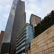 City Hall, Columbia Center Building and ATT Gateway Tower, Seattle, Washington USA