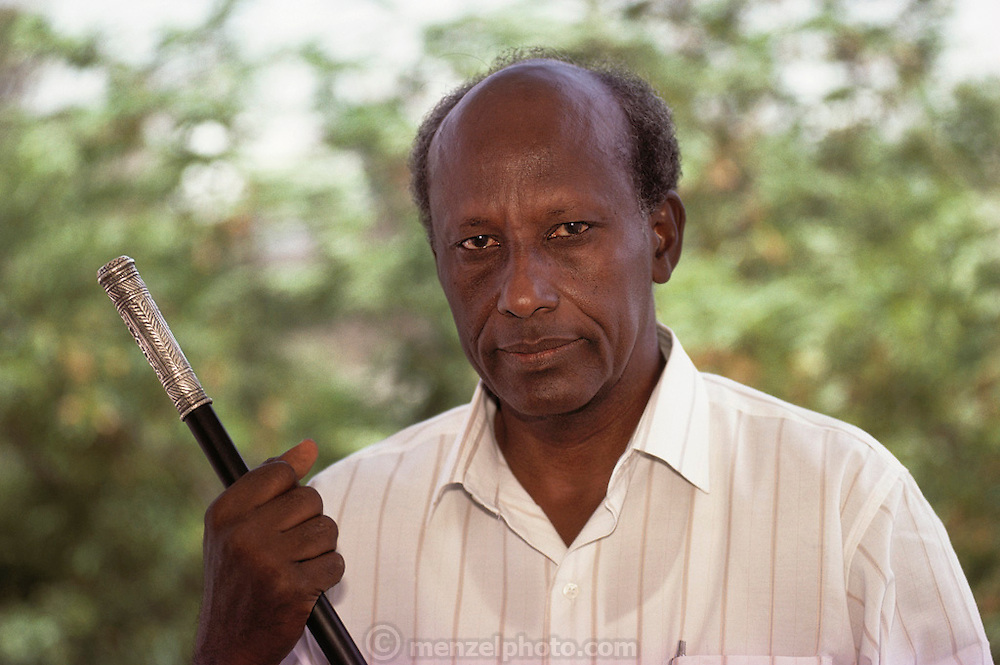 General Mohamed Farrah Aidid, leader of USC Forces in South Mogadishu, the war-torn capital of Somalia. Photographed at his headquarter in March 1992. On October 3, 1993 US soldiers were sent on a mission to capture Aidid and his lieutenants.