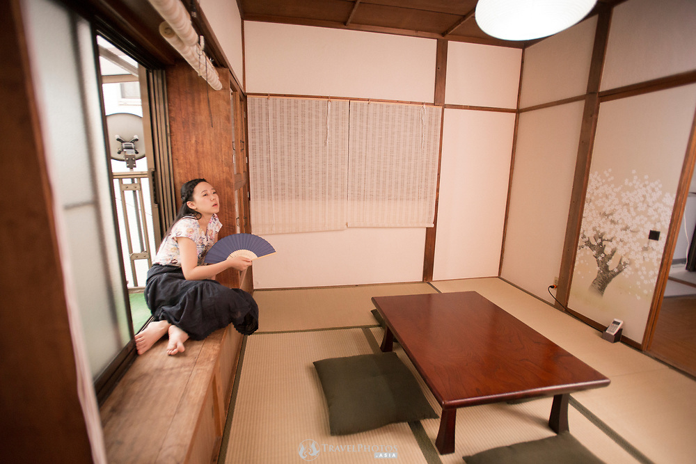 Lifestyle of a Japanese girl at home during the hottest days of summer.