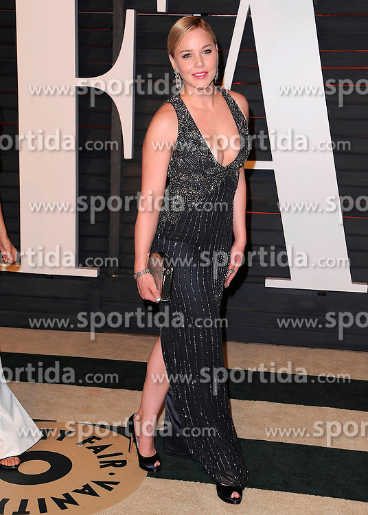 22.02.2015, Wallis Anneberg Center for the Performing Arts, Beverly Hills, USA, Vanity Fair Oscar Party 2015, Roter Teppich, im Bild Abbie Cornish // during the red Carpet of 2015 Vanity Fair Oscar Party at the Wallis Anneberg Center for the Performing Arts in Beverly Hills, United States on 2015/02/22. EXPA Pictures &copy; 2015, PhotoCredit: EXPA/ Newspix/ PGSK<br /> <br /> *****ATTENTION - for AUT, SLO, CRO, SRB, BIH, MAZ, TUR, SUI, SWE only*****