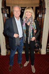 CHRISTINE MCVIE and MARTIN WYATT at Beautiful - The Carole King Musical 1st Birthday celebration evening at The Aldwych Theatre, London on 23rd February 2016.