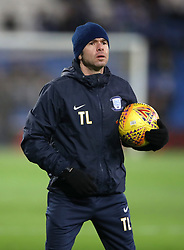 "Preston North End fitness coach Tom Little during the Sky Bet Championship match at The Den, London. PRESS ASSOCIATION Photo. Picture date: Friday December 29, 2017. See PA story SOCCER Cardiff. Photo credit should read: Nick Potts/PA Wire. RESTRICTIONS: EDITORIAL USE ONLY No use with unauthorised audio, video, data, fixture lists, club/league logos or ""live"" services. Online in-match use limited to 75 images, no video emulation. No use in betting, games or single club/league/player publications."